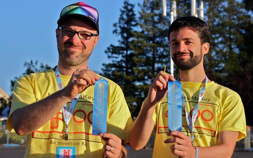 Die MaKey MaKey Erfinder Jay Silver und Eric Rosenbaum